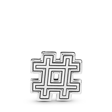 Pandora  Reflexions Hashtag Symbol Clip Charm  - Click to view larger image