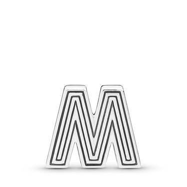 Pandora  Reflexions Letter M Clip Charm  - Click to view larger image