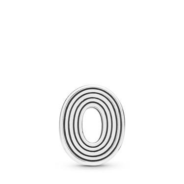 Pandora  Reflexions Letter O Clip Charm  - Click to view larger image
