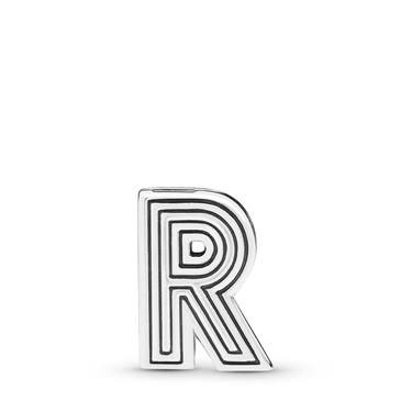 Pandora  Reflexions Letter R Clip Charm  - Click to view larger image
