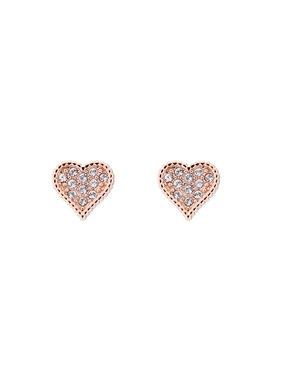 Ted Baker Rose Gold Hidden Heart Earrings   - Click to view larger image