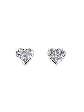 Ted Baker Silver Hidden Heart Earrings   - Click to view larger image