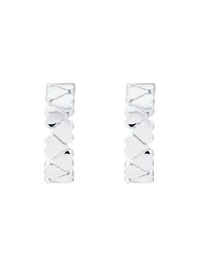 Ted Baker Silver Heart Hoop Earrings   - Click to view larger image
