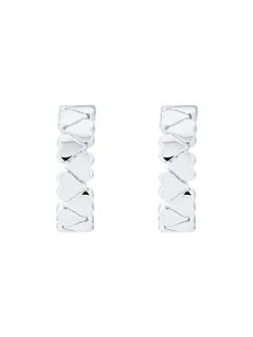 Ted Baker Silver Heart Hoop Earrings
