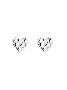 Ted Baker Silver Heart Earrings   - Click to view larger image