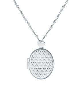 Ted Baker Silver Heart Locket   - Click to view larger image