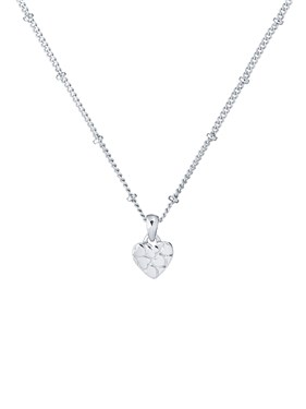 Ted Baker Silver Heart Harrow Necklace   - Click to view larger image