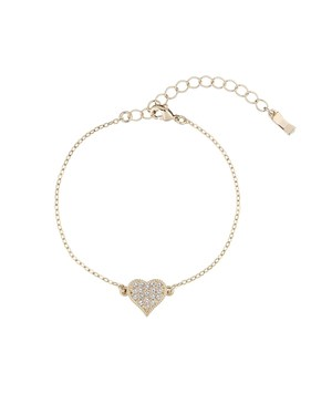 Ted Baker Gold Hidden Heart Bracelet   - Click to view larger image