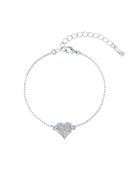 Ted Baker Silver Hidden Heart Bracelet   - Click to view larger image