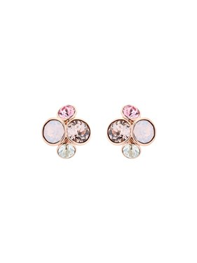 Ted Baker Pink Crystal Cluster Earrings   - Click to view larger image