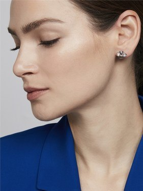 Ted Baker Silver Crystal Cluster Earrings   - Click to view larger image