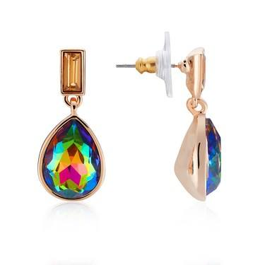 August Woods Rose Gold Ombre Teardrop Earrings   - Click to view larger image
