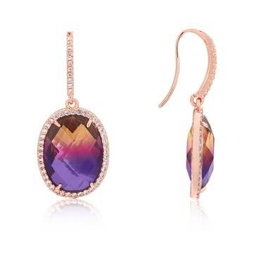 August Woods Rose Gold Ombre Drop Earrings   - Click to view larger image