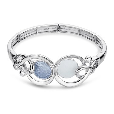 August Woods Silver Shimmer Oversized Circle Bracelet   - Click to view larger image