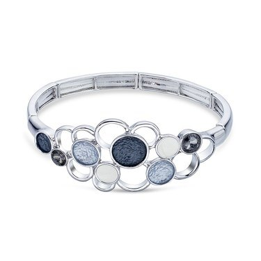 August Woods Silver Shimmer Circle Bracelet   - Click to view larger image