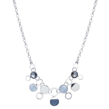 August Woods Silver Shimmer Open Circle Necklace   - Click to view larger image