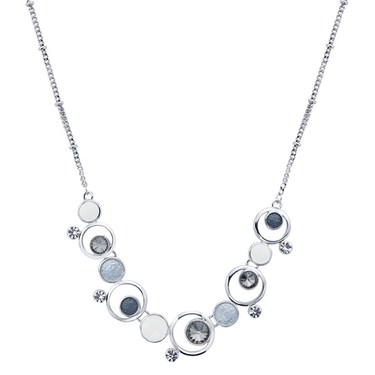 August Woods Silver Shimmer Circle Necklace   - Click to view larger image