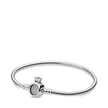 Pandora Moments Crown Snake Chain Bracelet  - Click to view larger image
