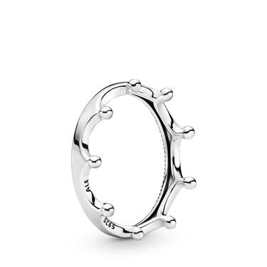 Pandora Polished Crown Ring  - Click to view larger image