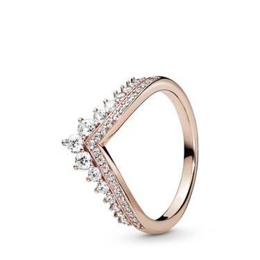 Pandora Rose Princess Wishbone Ring  - Click to view larger image