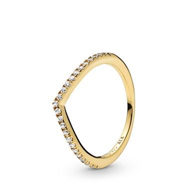 Pandora Shine Sparkling Wishbone Ring  - Click to view larger image