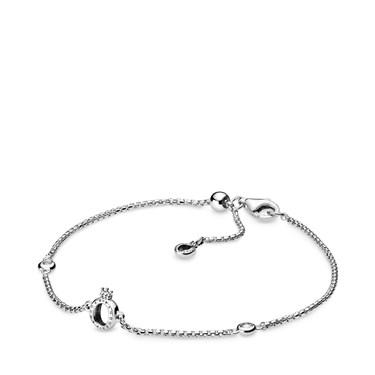 Pandora Sparkling Crown O Chain Bracelet  - Click to view larger image