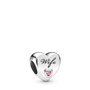 Pandora Wife Love Heart Charm  - Click to view larger image
