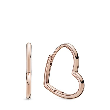 Pandora Rose Heart Hoop Earrings  - Click to view larger image