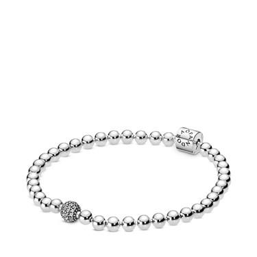 Pandora Beads & Pavé Bracelet  - Click to view larger image