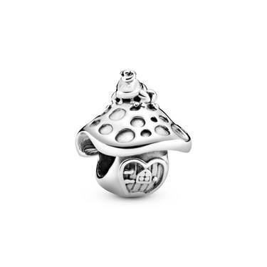Pandora Mushroom & Frog Charm  - Click to view larger image