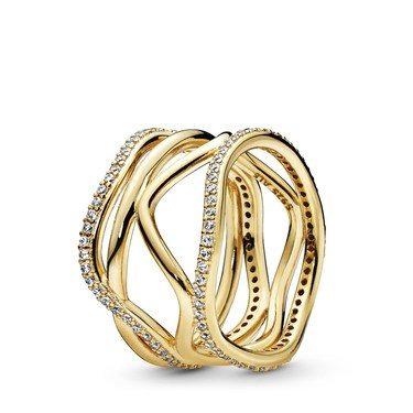 Pandora Shine Swirling Lines Ring  - Click to view larger image
