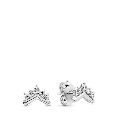 Pandora Tiara Wishbone Stud Earrings  - Click to view larger image