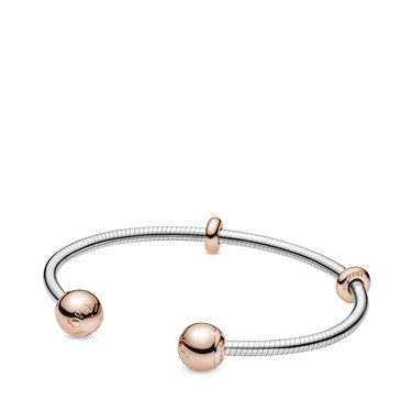 Pandora Moments Snake Chain Style Open Bangle  - Click to view larger image