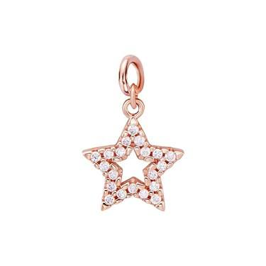 Storie Rose Gold Star Pendant Charm   - Click to view larger image