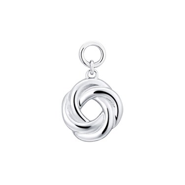 Storie Silver Circle Pendant Charm   - Click to view larger image