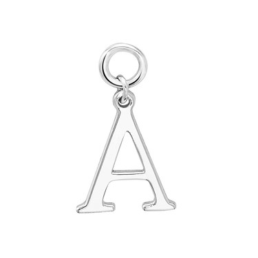 Storie Silver Letter A Pendant Charm   - Click to view larger image