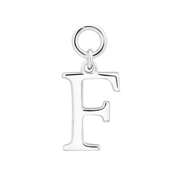 Storie Silver Letter F Pendant Charm   - Click to view larger image