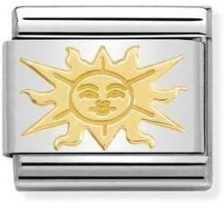 Nomination Gold Sun Charm   - Click to view larger image