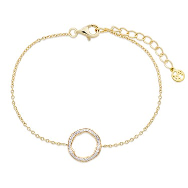 Argento Gold Twist Circle Bracelet  - Click to view larger image