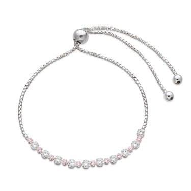 Argento Silver + Pink Circle Pull Bracelet   - Click to view larger image