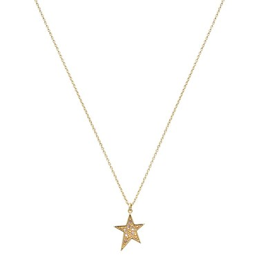 Argento Gold Crystal Star Necklace   - Click to view larger image