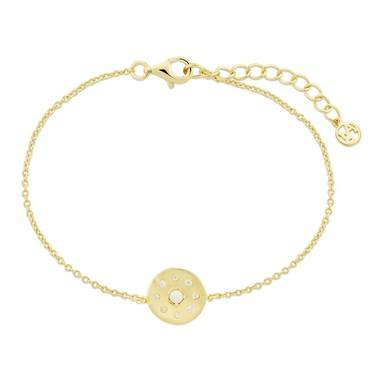 Argento Gold Opal Crystal Disc Bracelet   - Click to view larger image