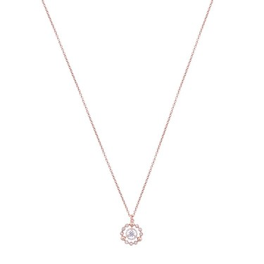 Argento Rose Gold Multi Circle Crystal Necklace   - Click to view larger image