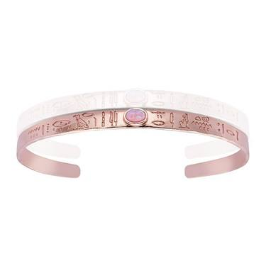 Argento Rose Gold Opal Egyptian Bangle   - Click to view larger image