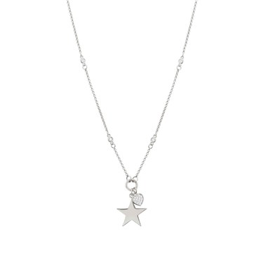 Nomination Nightdream Silver Heart & Star Necklace   - Click to view larger image