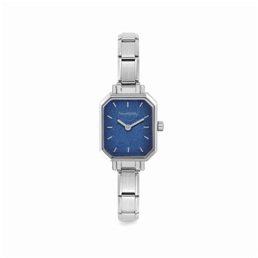 Nomination Paris Blue Glitter Rectangular Watch   - Click to view larger image