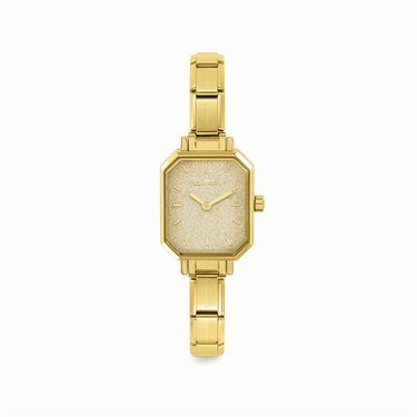 Nomination Paris Gold Glitter Rectangular Watch  - Click to view larger image