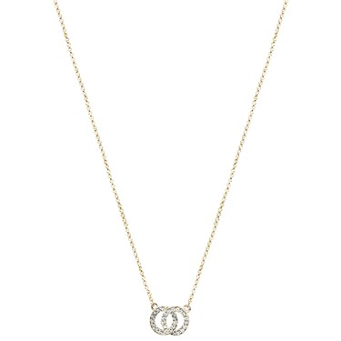 August Woods Gold Crystal Link Circle Necklace   - Click to view larger image