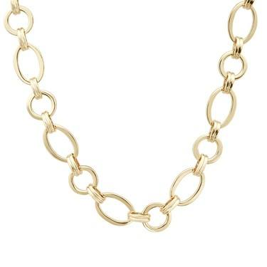 August Woods Gold Linked Oval Necklace    - Click to view larger image