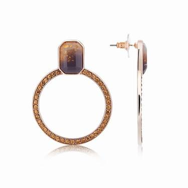 August Woods Rose Gold Divine Circle Earrings   - Click to view larger image